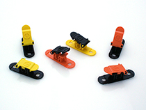 Multi-color RC Helicopter skid clamps clips