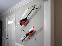 RC helicopters as wall art