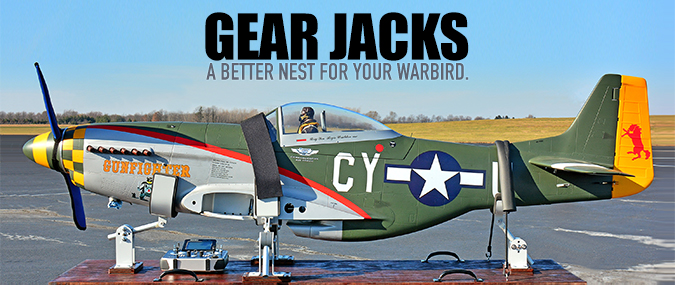 Random Heli Gear Jack Fuselage Supports for transporting giant scale RC warbirds