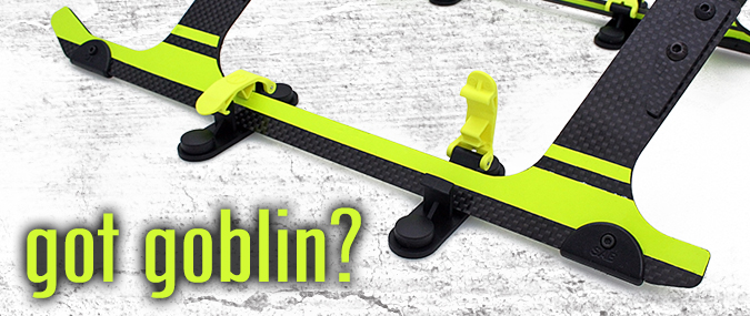 Random Heli Skid Clamps for SAB Goblin RC Helicopter Storage and Transport