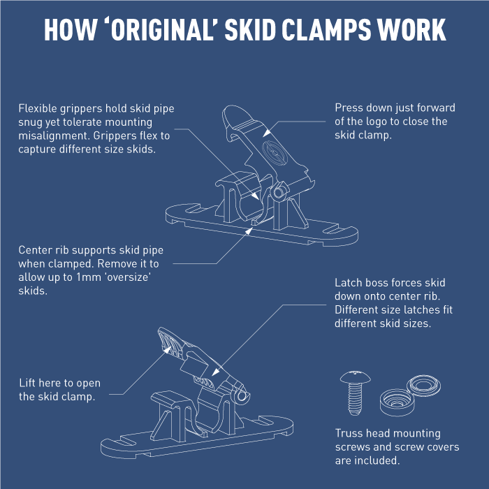 Drawing of Random Heli Original Skid Clamps for RC Helicopters