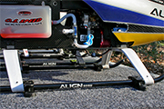 RC Helicopter Skid Clip Clamp mounted on board in vehicle