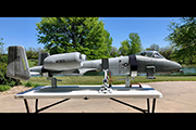 Giant Scale A-10 RC plane mounted on Fuselage Support Gear Jacks from Random RC