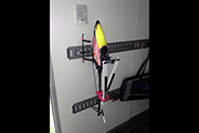 E-Track in trailer uses Skid Clamps to secure RC helicopter for transport