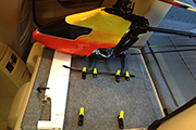 RC Heli transport platform in BMw 325i