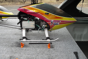 Slide out platform to transport RC helicopters in SUV