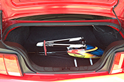 How to transport RC Heli in BMW car trunk using Skid Clamps