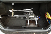 RH Helicopter on platform in car trunk