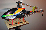 Custom RC Heli workstand for Align Trex 500 uses Random Heli Skid Clamps